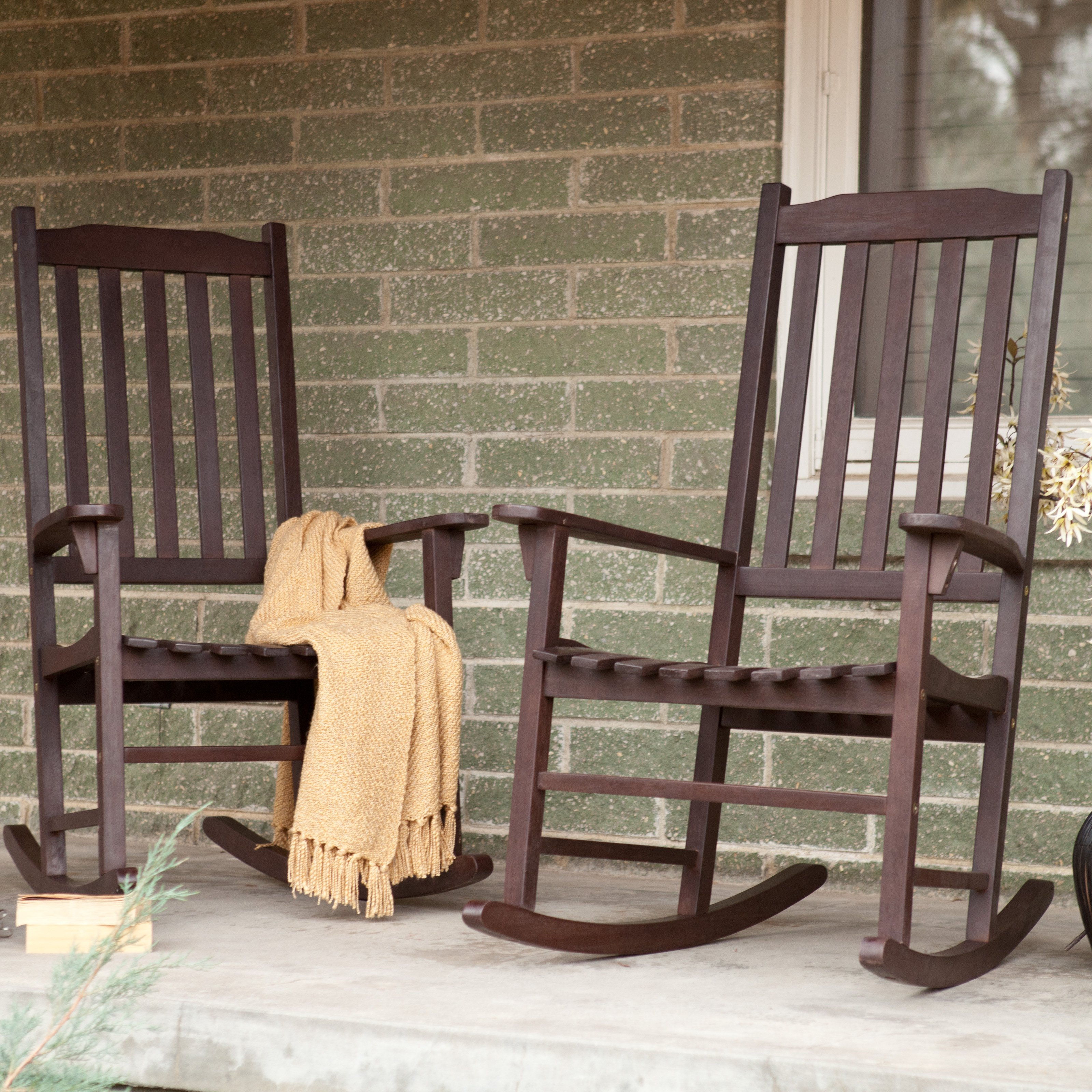 outdoor rocking chairs coral coast indoor/outdoor mission slat rocking chair - natural - outdoor  rocking chairs at hayneedle BUGERYM