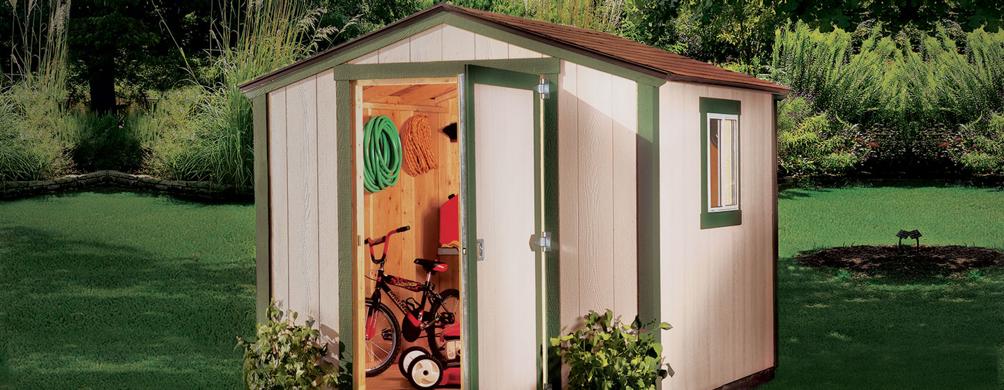 outdoor sheds sheds: metal, plastic u0026 wood garden sheds at the home depot WFVMRJY