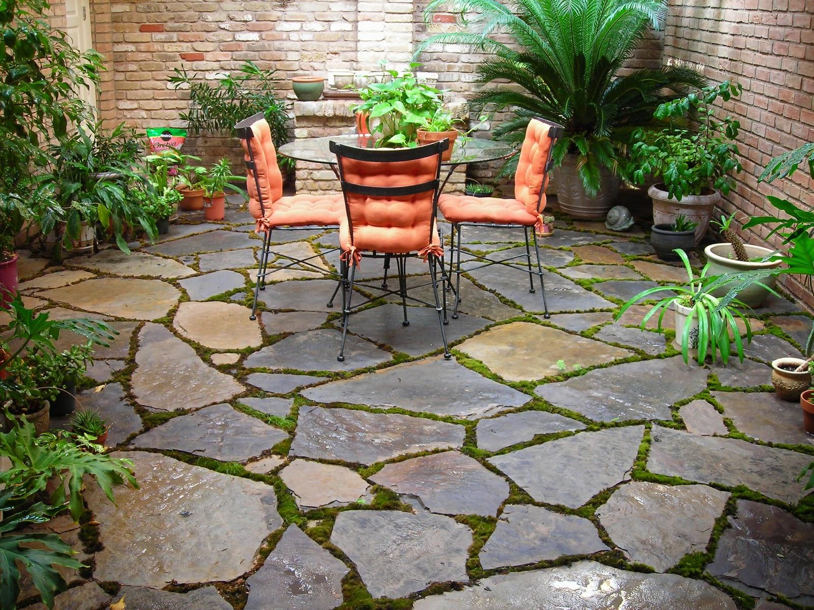 outdoor small backyard landscaping ideas with installing flagstone patio  stone backyard patio garden decor ideas WAXOXJK