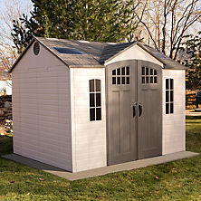outdoor storage sheds best seller lifetime 10u0027 x 8u0027 outdoor storage shed with carriage doors IIRGSOP