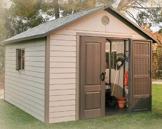 outdoor storage sheds lifetime 11\u0027 x 31\u0027 outdoor storage shed u0026 free skylights GLYYLYT