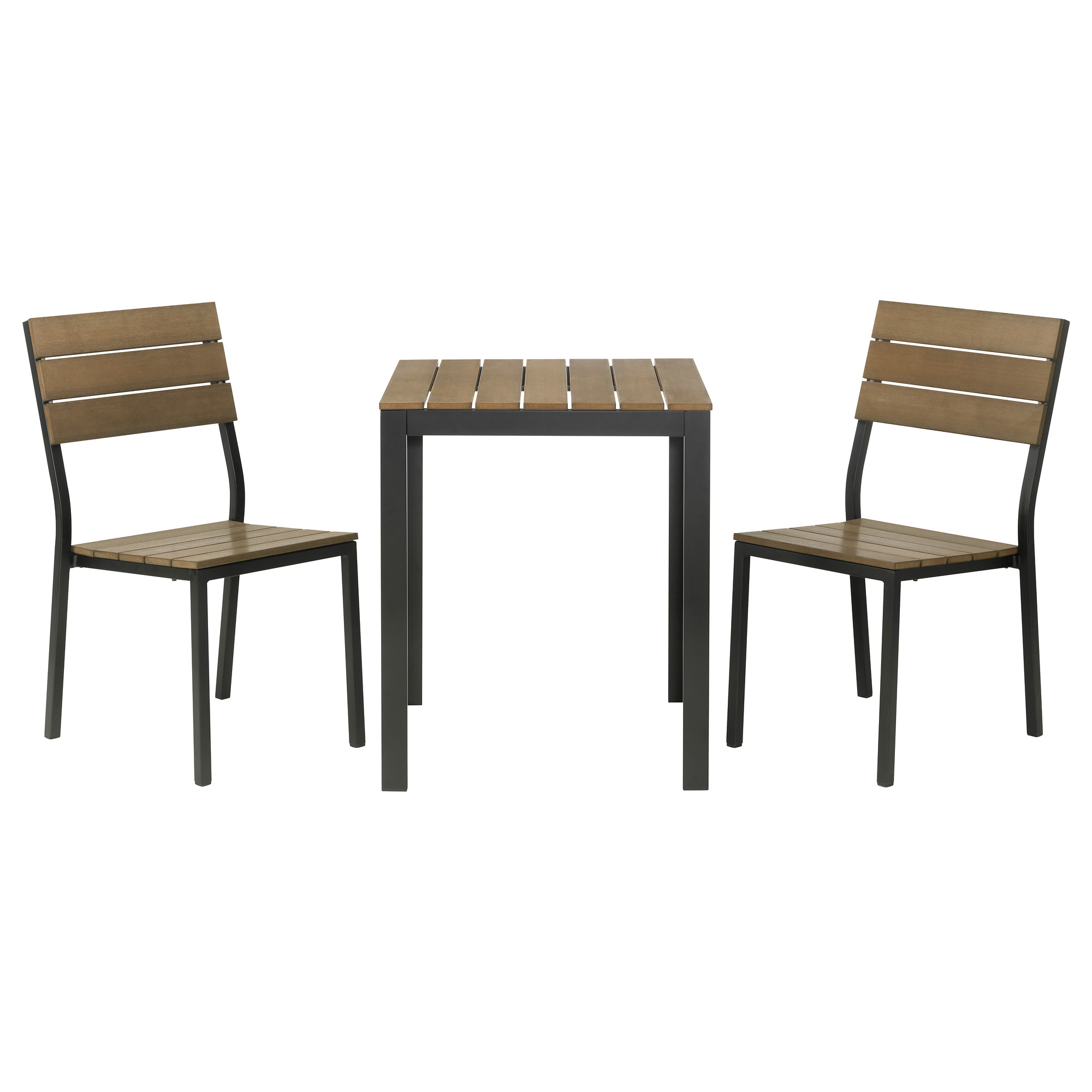 outdoor table and chairs falster table+2 chairs, outdoor, black, ... TWLSUYP