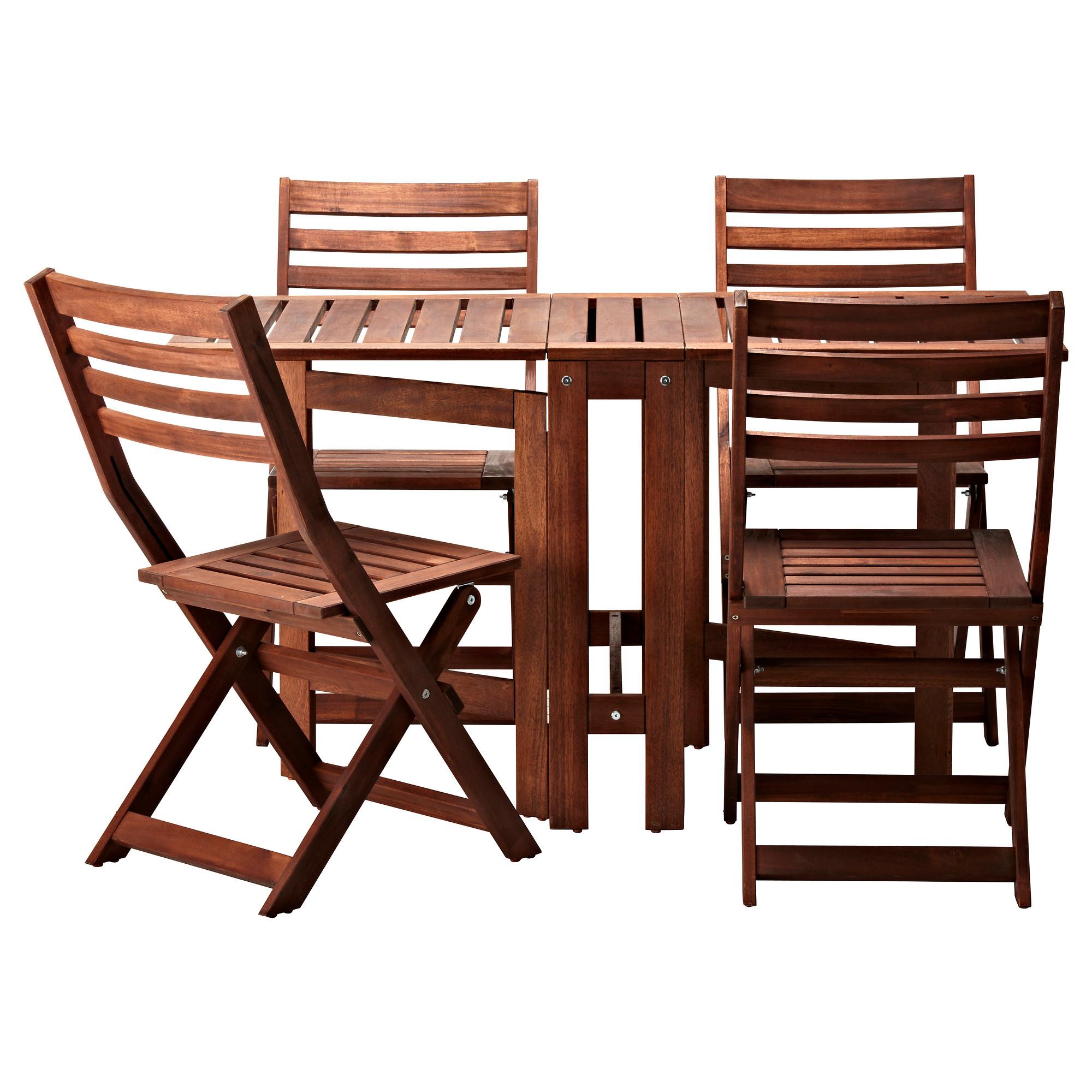 outdoor table and chairs ikea äpplarö table+4 folding chairs, outdoor UQJDDVU