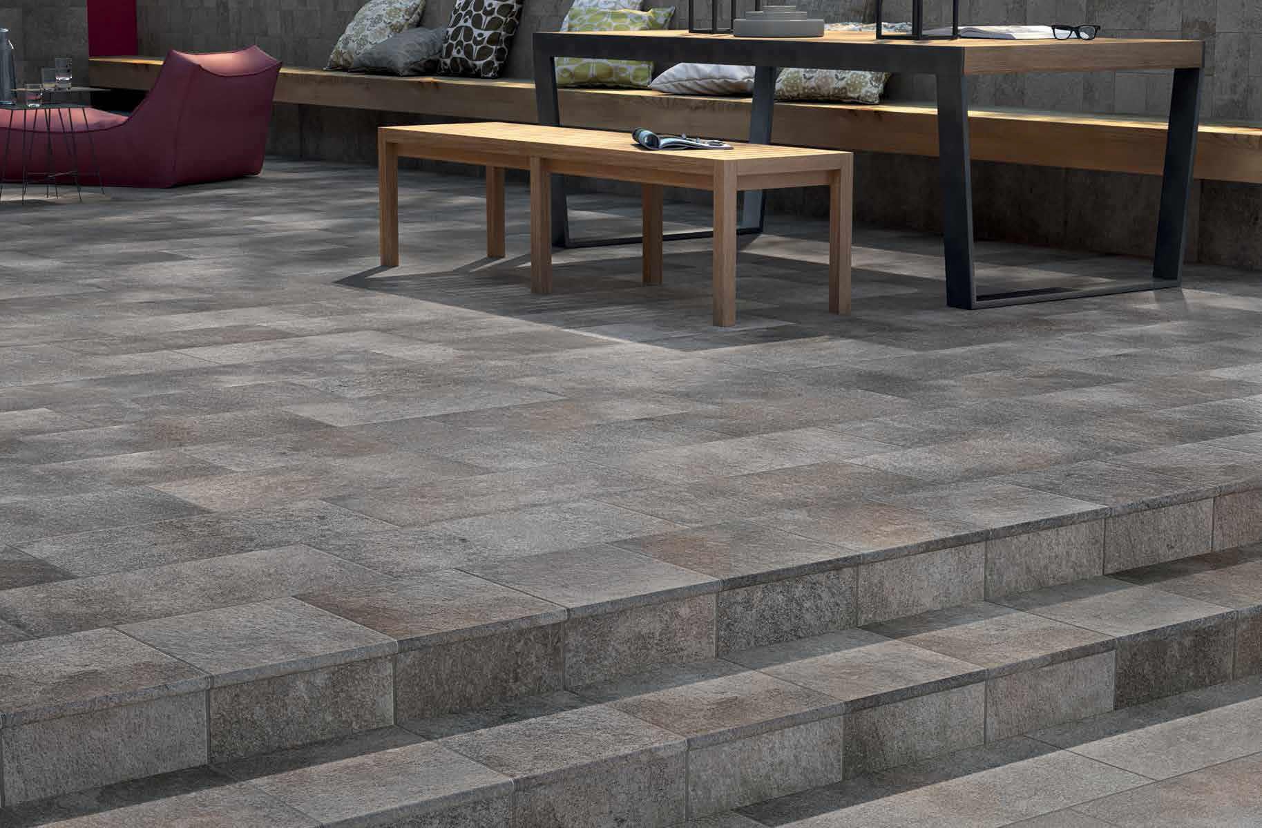 outdoor tiles ... outdoor tile / for floors / porcelain stoneware / matte garden : silver  ceramiche marca WHAXHGO