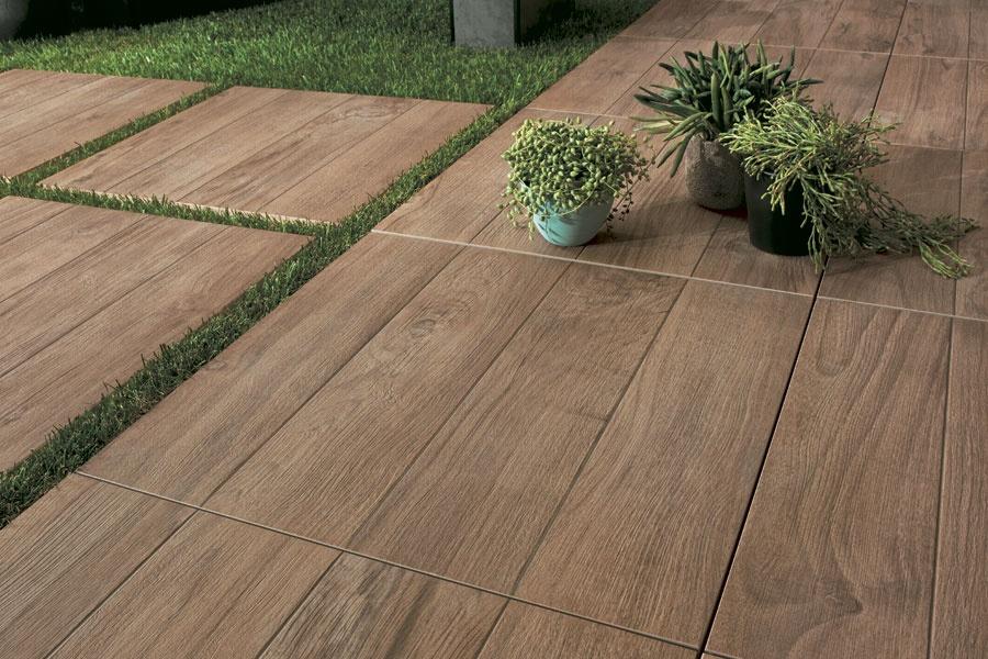outdoor tiles wood look outdoor tile as stepping stones or a garden path OSIHADG