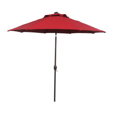 outdoor umbrella abba patio - abba patio market umbrella with auto tilt and crank, dark red, XDTVRUU
