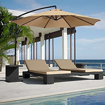 outdoor umbrella best choice products patio umbrella offset 10u0027 hanging umbrella outdoor  market umbrella tan new ZGOSPBL