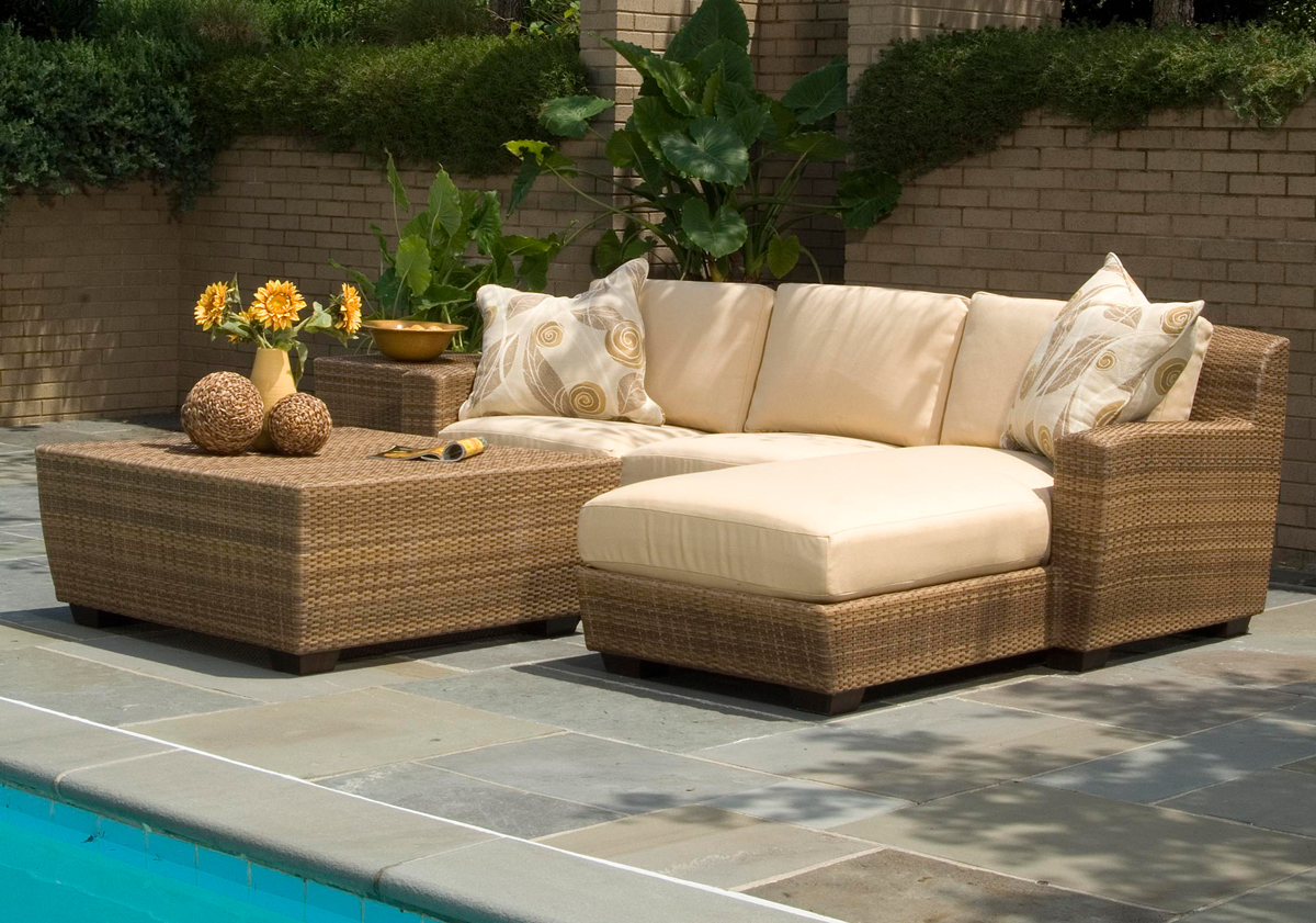 outdoor wicker furniture in a variety of styles from patio productions YXBKDAU
