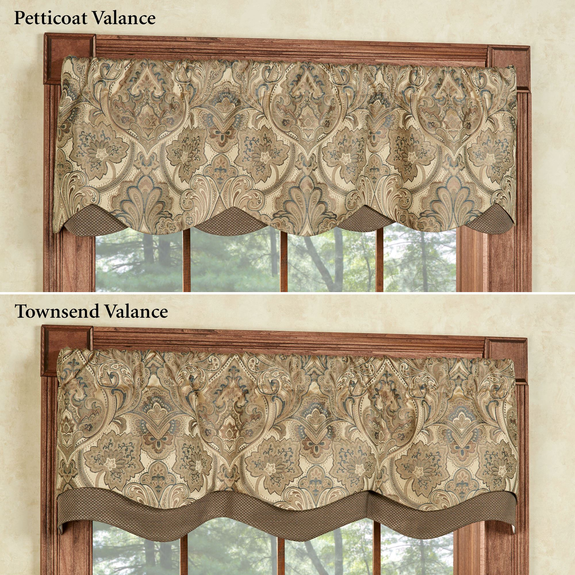 overview. the lined hollyhock gold layered window valances ... XXYMNZK
