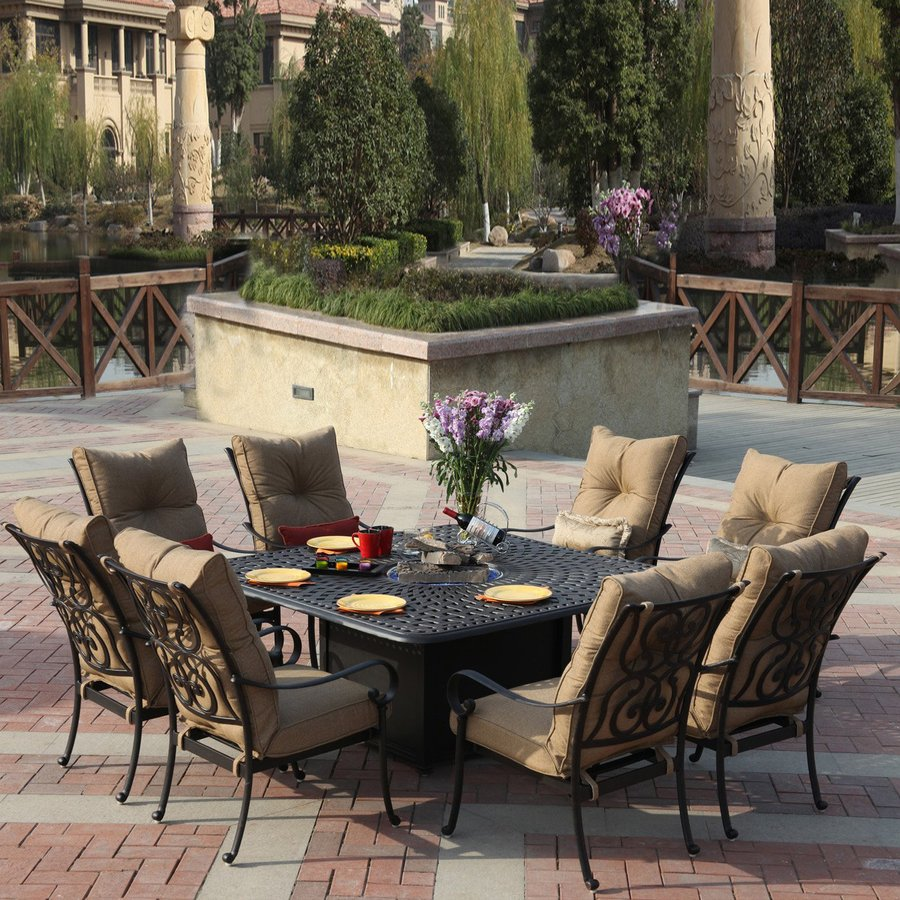 patio dining sets darlee santa anita antique bronze aluminum patio dining set OMSSHFU