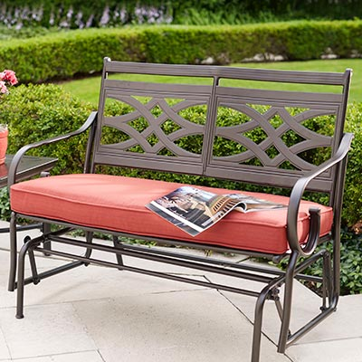 patio furniture cushions bench u0026 glider cushions GNOKKKG