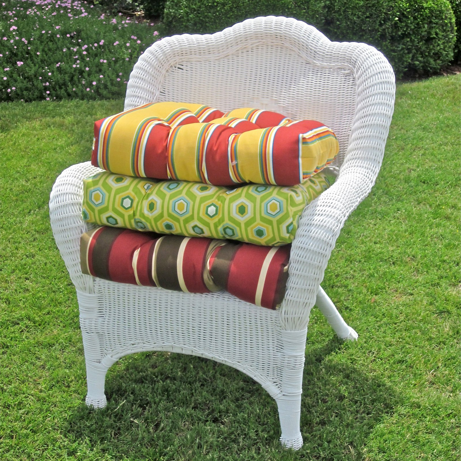 patio furniture cushions outdoor wicker chair cushion - outdoor cushions at hayneedle ZICAMPN