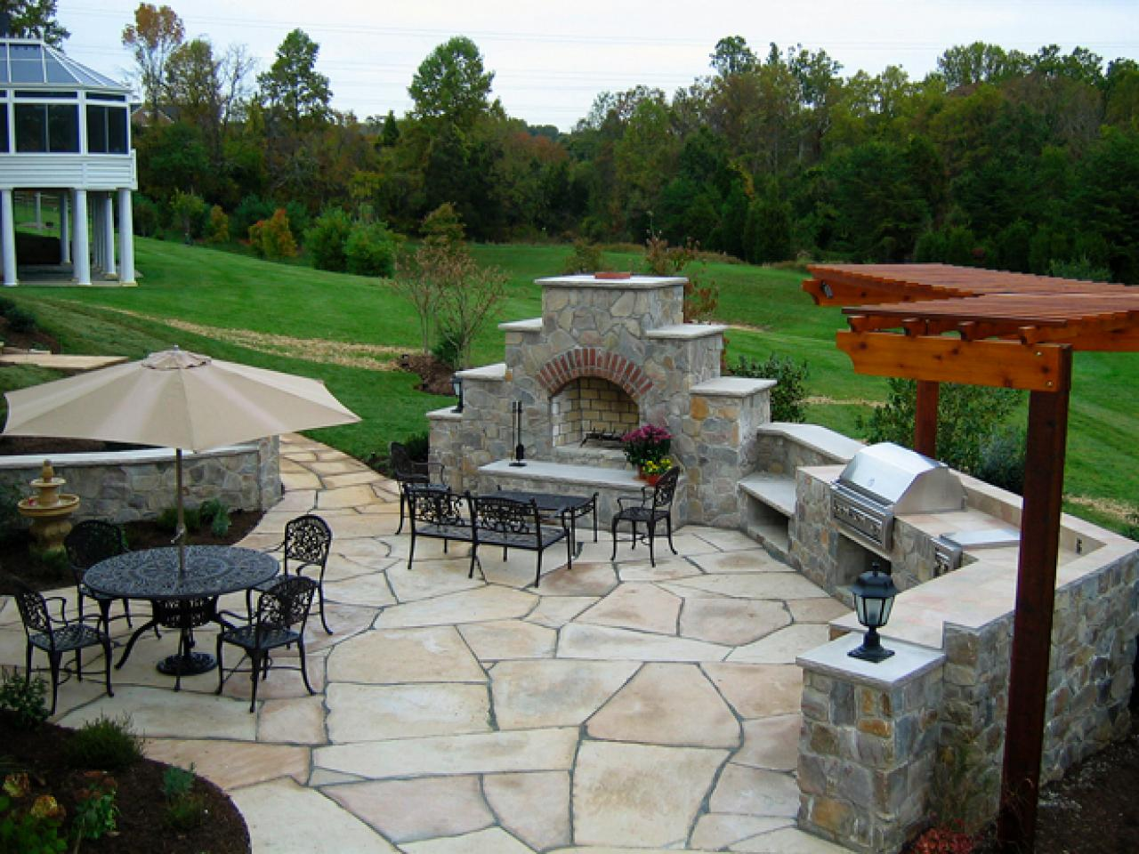 patio ideas paver patios | hgtv NZVNYDA