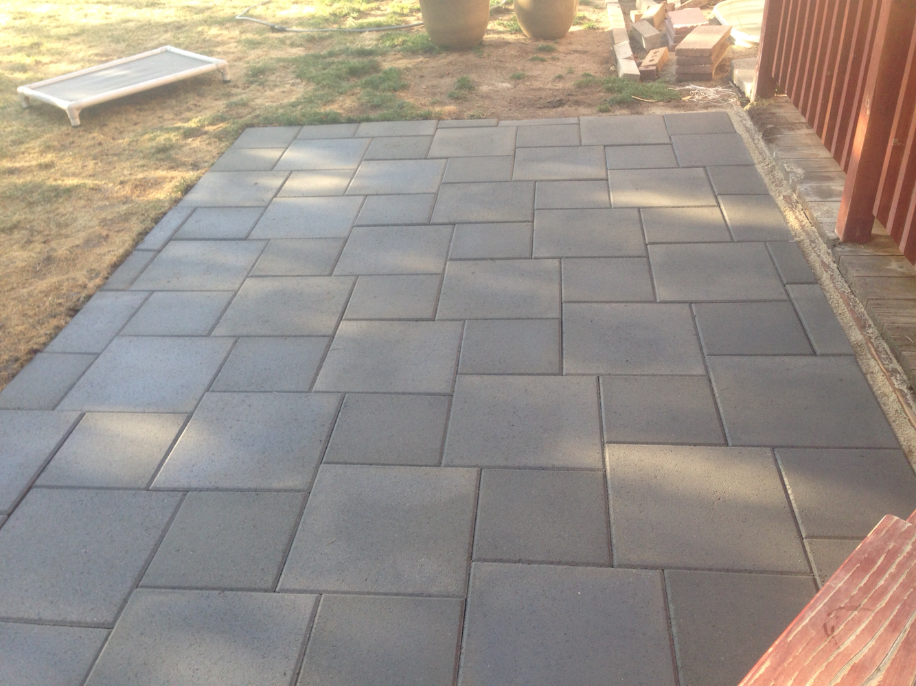 patio pavers patio of inexpensive concrete pavers more QVQNRYM