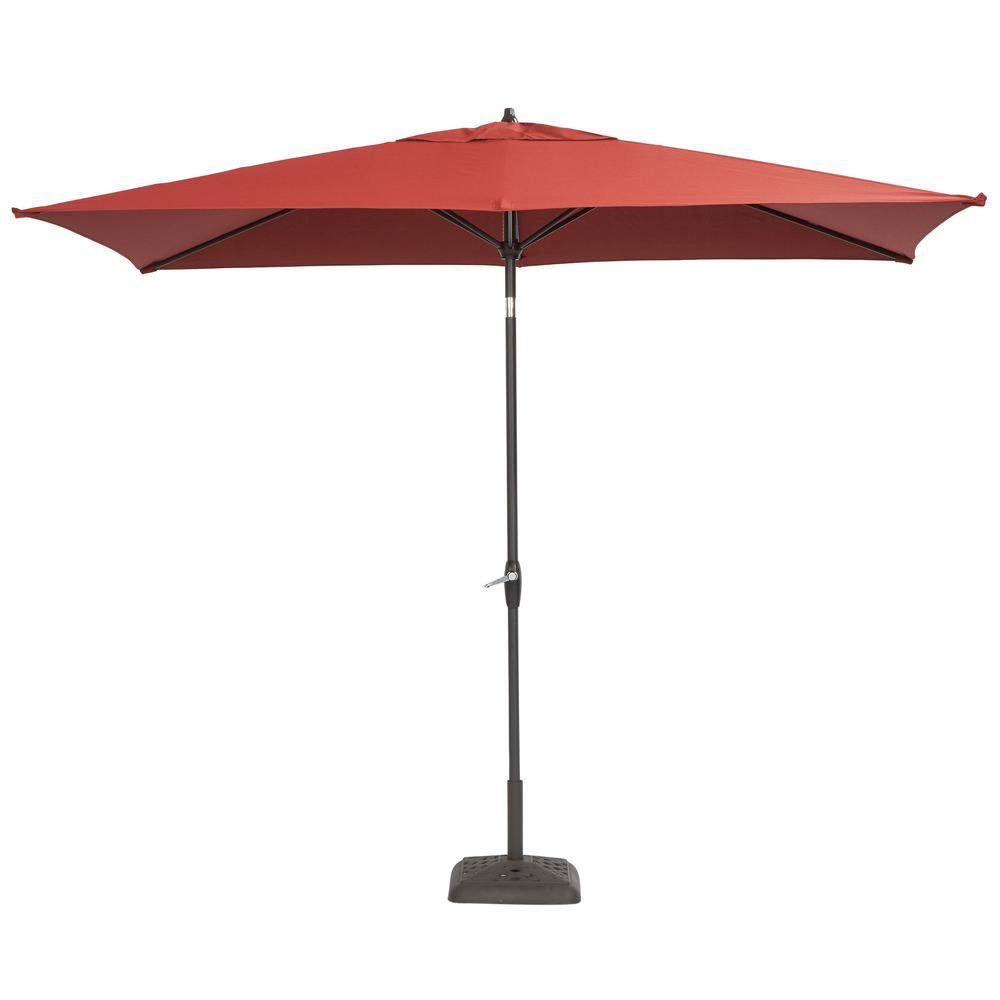 patio umbrellas aluminum patio umbrella in chili with push-button tilt YISOTYP