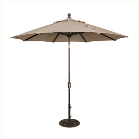 patio umbrellas blue wave catalina champagne market patio umbrella (common: 9-ft w x 9 KIPVLDN