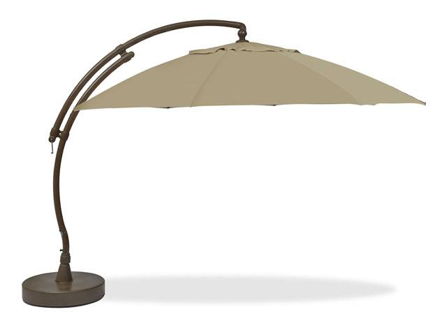 patio umbrellas create a shaded spot for outdoor entertaining or relaxation with our sturdy  arc umbrella ... QSPUCZZ