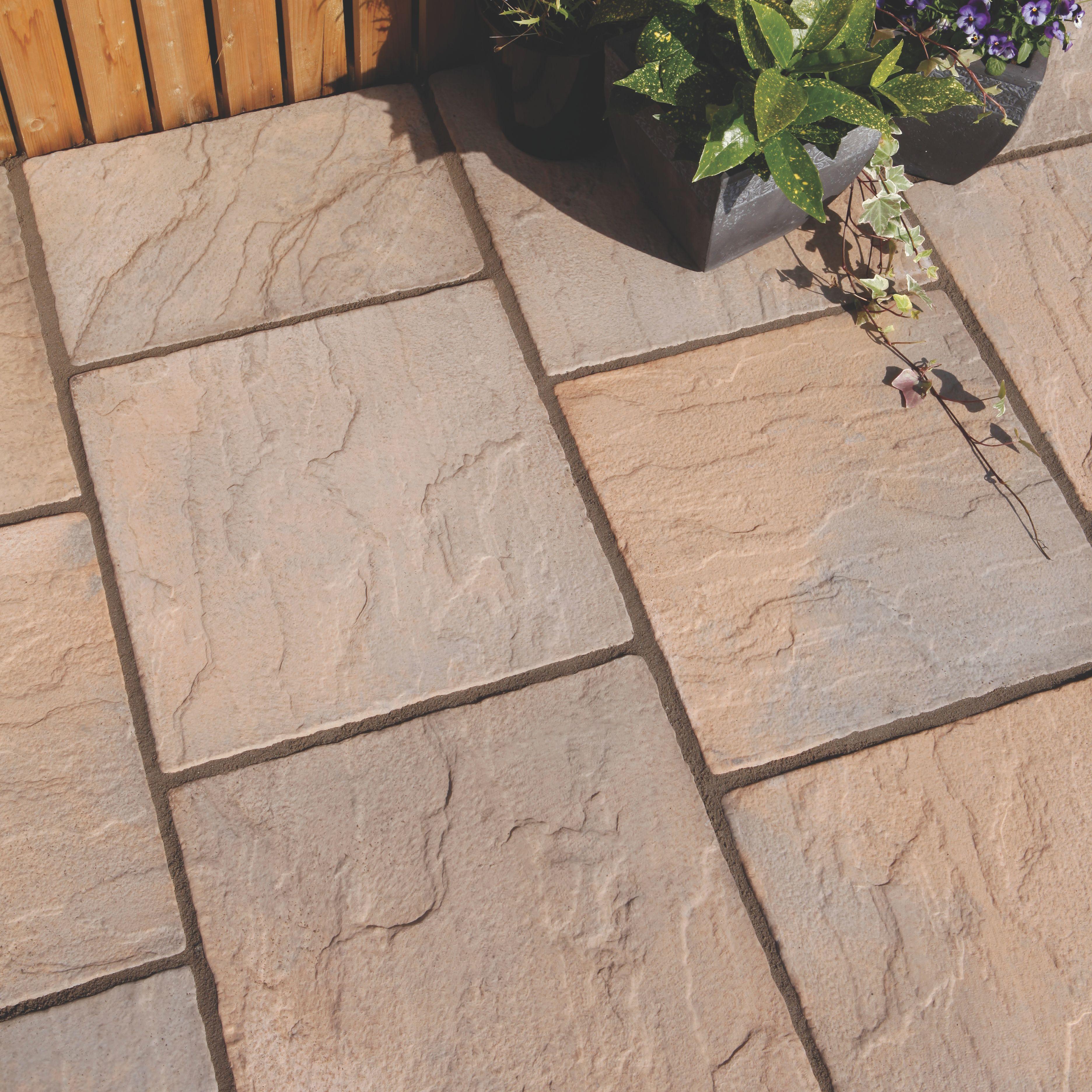 paving slabs brown blend derbyshire single paving slab (l)450mm (w)450mm ZSOVDRZ