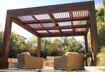 pergola kits handcrafted from redwood IVJYGXI