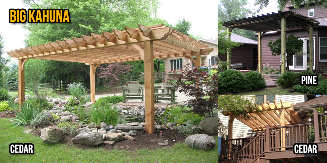 pergola kits wood pergola kit - big kahuna TSGNRRC