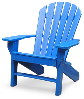 plastic adirondack chairs model pb-adsea | seaside commercial grade recycled plastic adirondack chair  (blue) BDUWMPZ