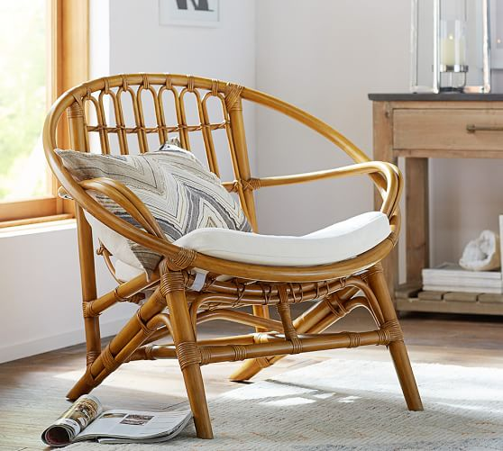 rattan chairs luling rattan chair | pottery barn TZNQRZJ