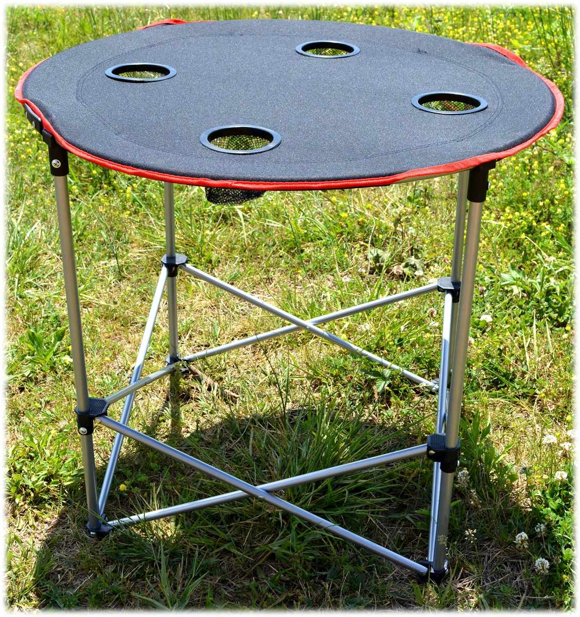 round folding camping table -