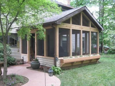 screened in porch with fireplace | rustic screened porch by archadeck of  fort wayne - screened KUCRIKS