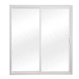 sliding patio doors reliabilt 300 series 58.75-in clear glass white vinyl sliding patio door HJGATTT