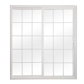 sliding patio doors reliabilt 300 series 70.75-in grilles between the glass white vinyl sliding  patio door DYKETBM