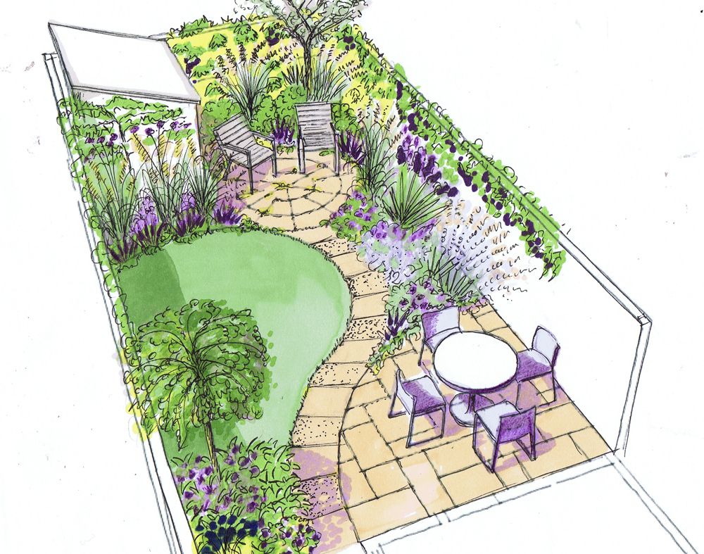 small garden design design for a small back town garden on a low budget more RBAQAES