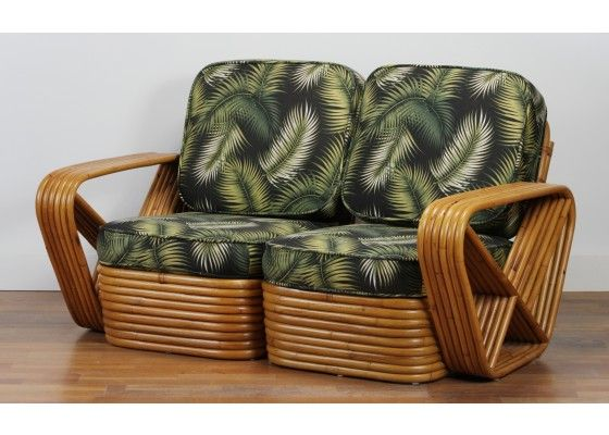 square pretzel rattan sofa by paul frankl, 1930s for sale at pamono SBITFSC