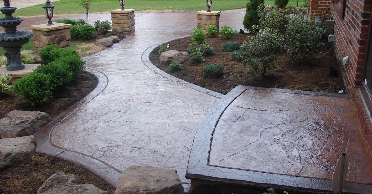 The classy and Decorative Stamped Concrete