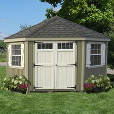 storage sheds colonial 10 ft. w x 10 ft. d wood storage shed WRMQPSY