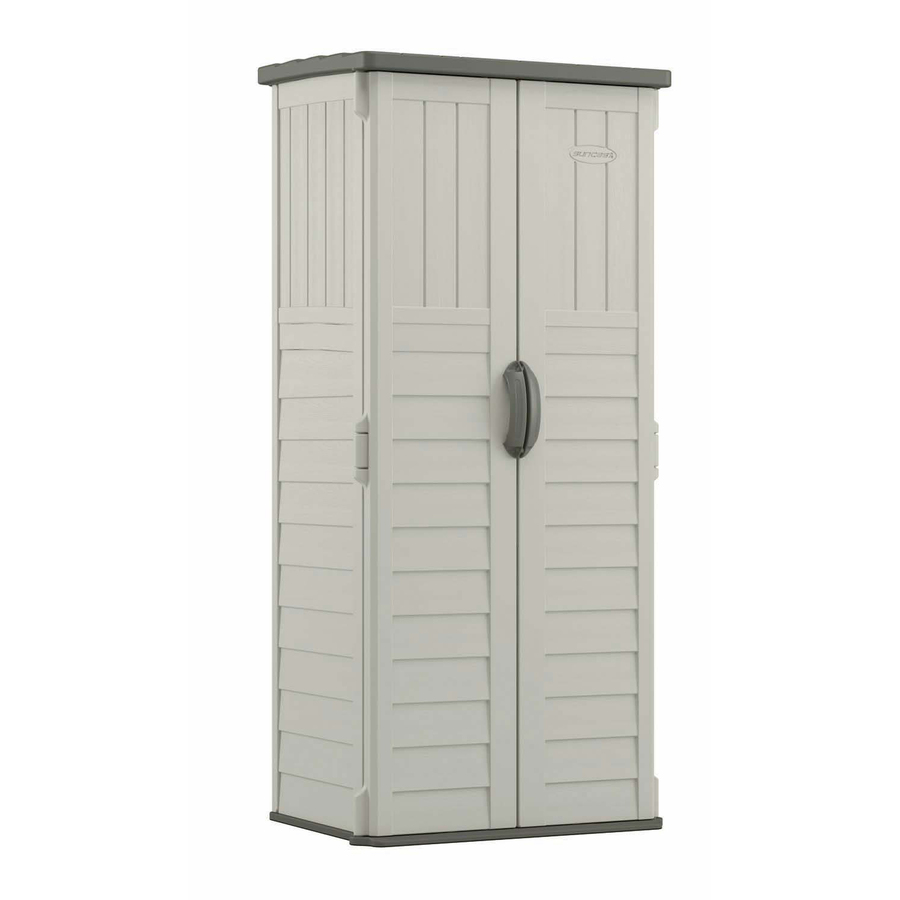suncast vanilla resin outdoor storage shed (common: 32.25-in x 25.5-in TYHXRDE
