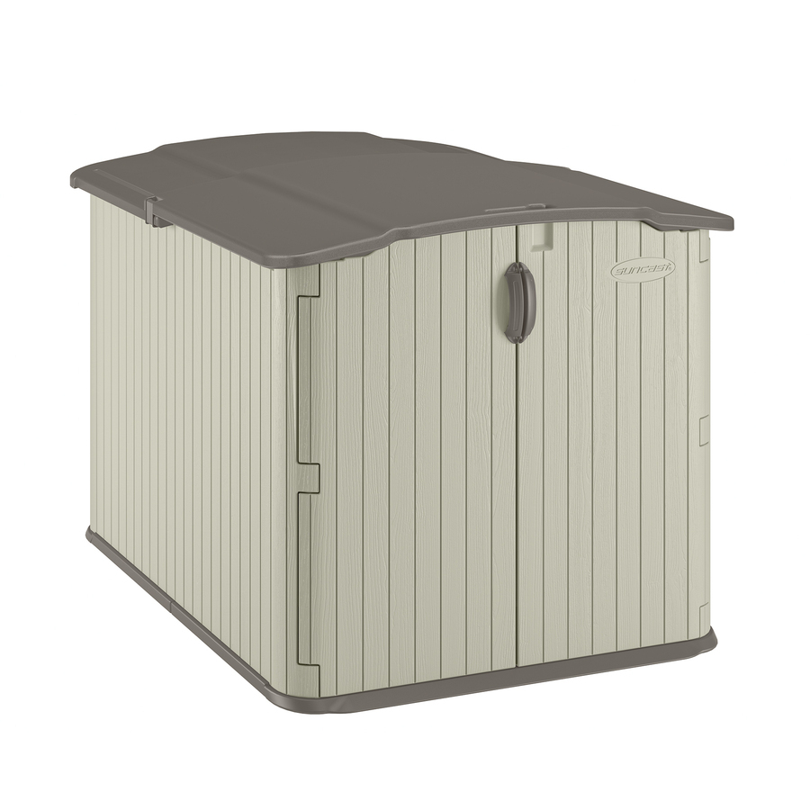 suncast vanilla resin outdoor storage shed (common: 57-in x 79.625-in YAPIZZP
