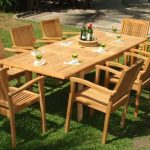 teak furniture 9-piece-teak-dining-set BXVNINA
