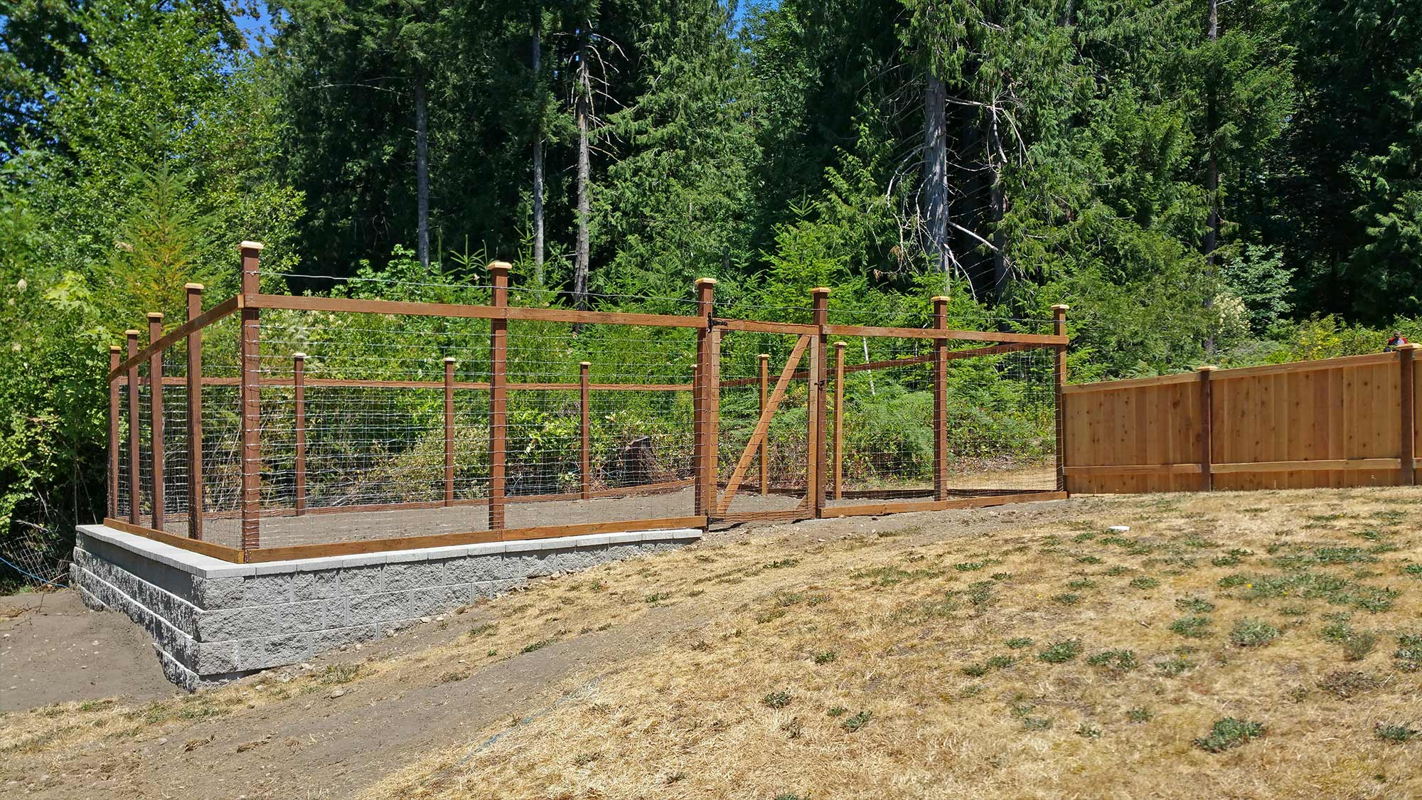this steamboat island garden fence will keep the deer out of this raised  garden area. LTBIQXQ