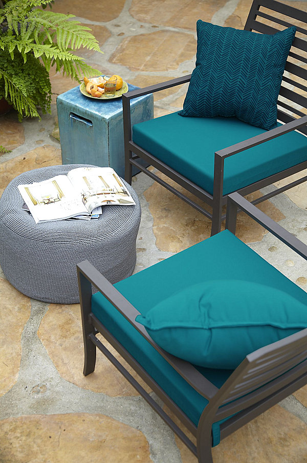 view in gallery vibrant blue patio cushions DDUNUCW