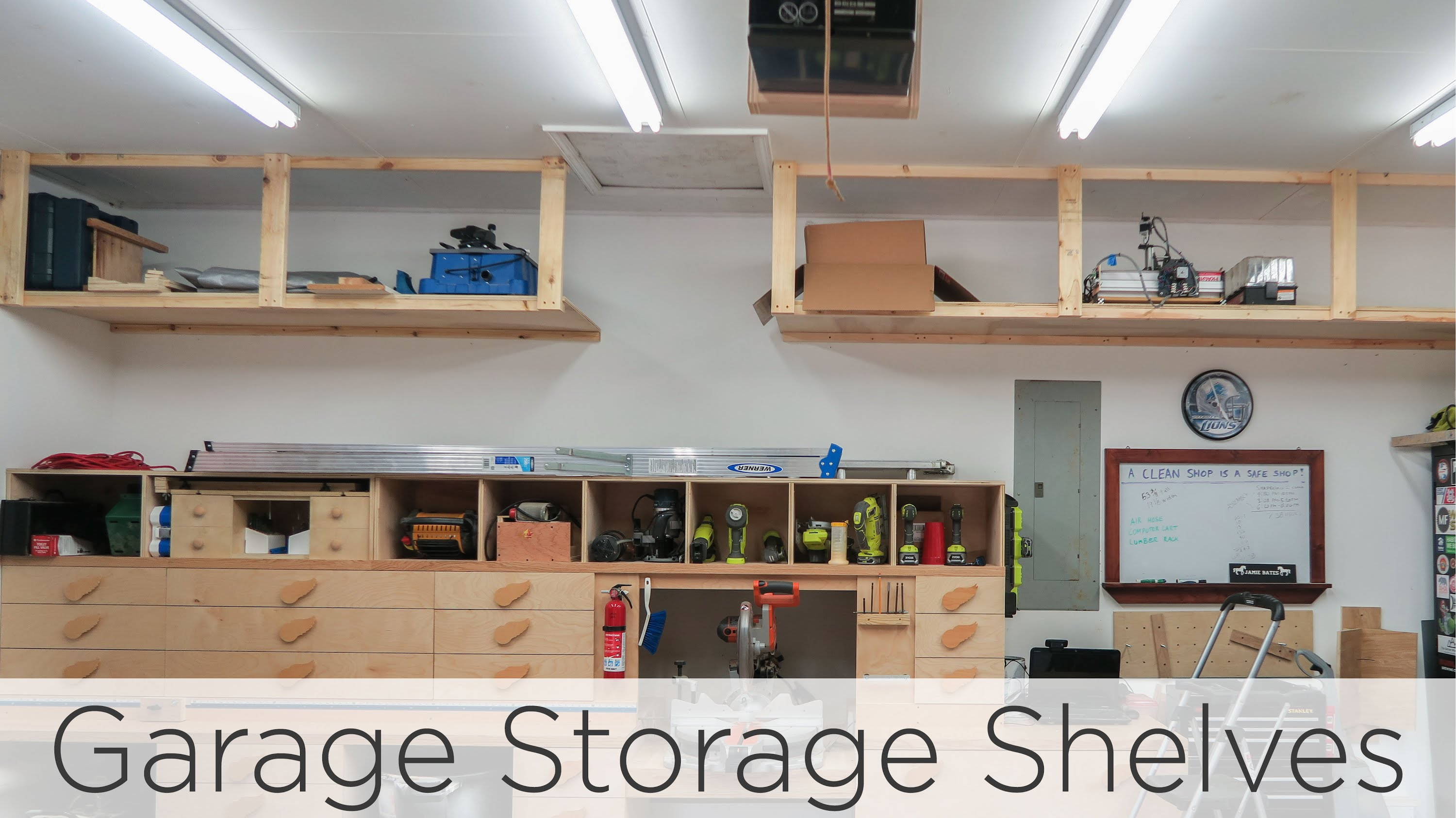 wasted space garage storage shelves - 202 - youtube MKLYQSD