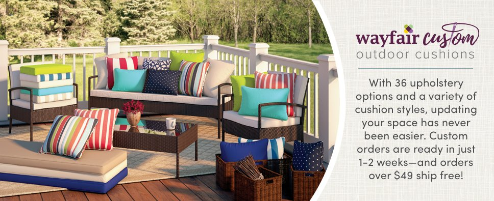 wayfair custom outdoor cushions | wayfair FDXKREZ