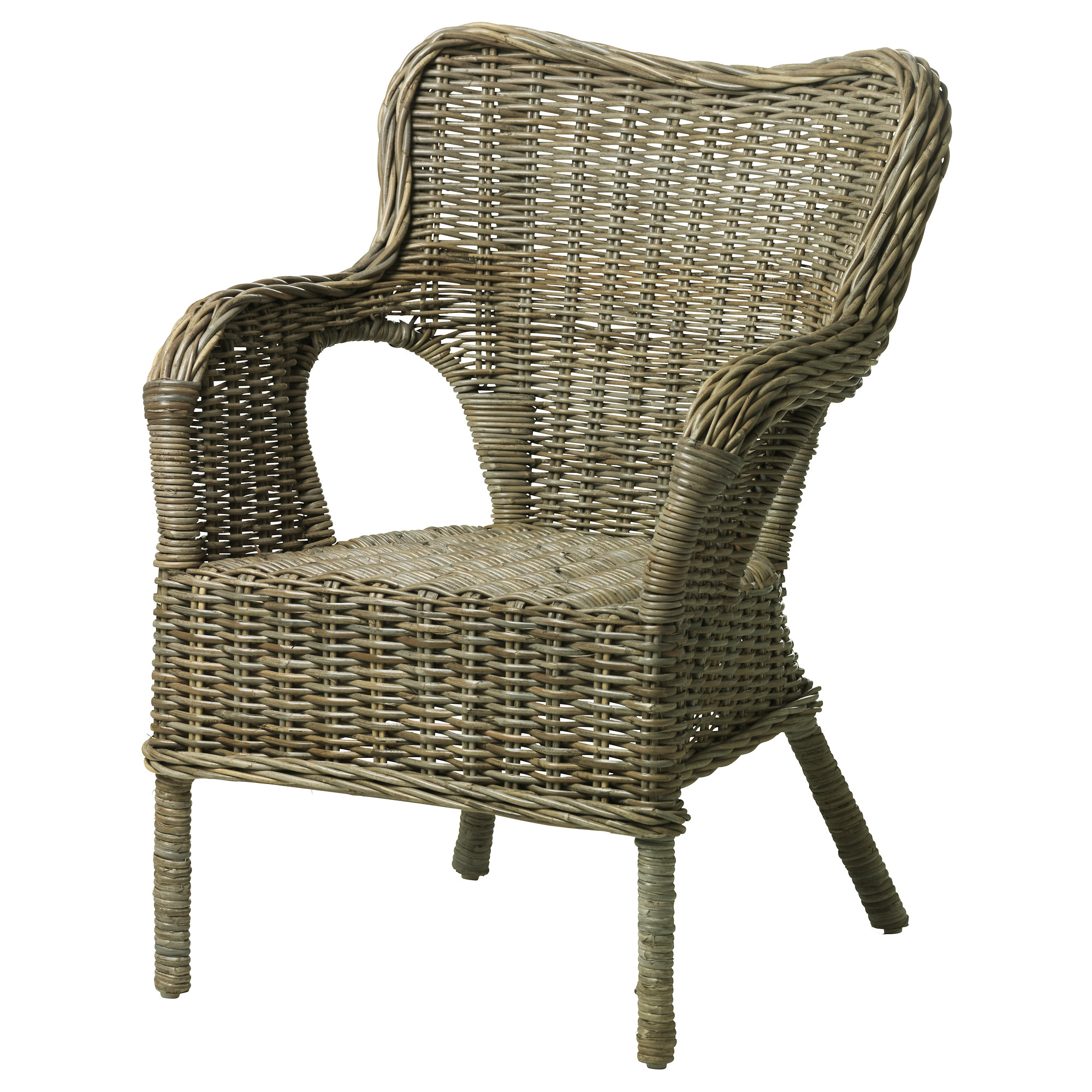 wicker chairs byholma chair - ikea AGRQCBZ