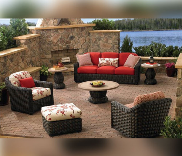 wicker outdoor furniture lane venture south hampton wicker patio furniture RVWEJMD