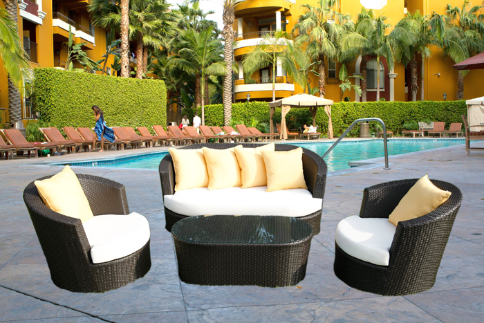 wicker outdoor furniture modena - outdoor wicker set NYJZASH