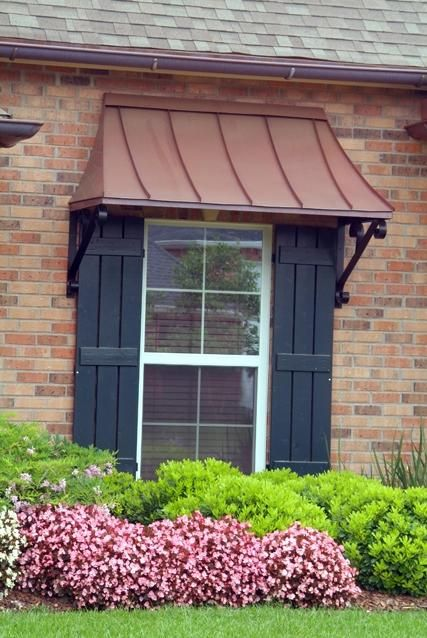 window awnings juliet with lazy scrolls - the juliet gallery - copper awnings - projects -  gallery of QDQRSOZ