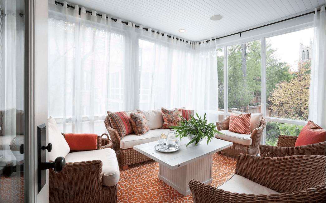 window treatment ideas sheer white wrap around curtains KNEUNEY