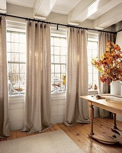 window treatment ideas window treatment put rod all the way across. this would look cool in my  office KKFAZPB