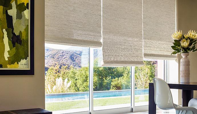 window treatments woven wood shades JBZOPDQ