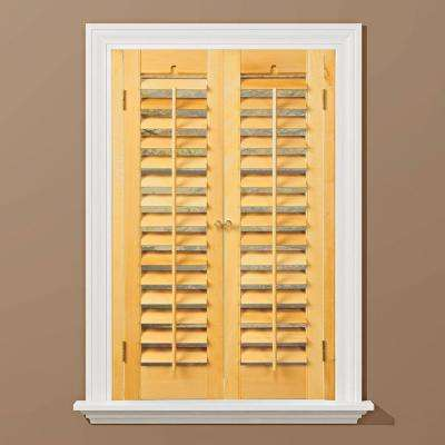 wood shutters plantation light teak real wood interior shutter (price varies by size) VHPJHEH