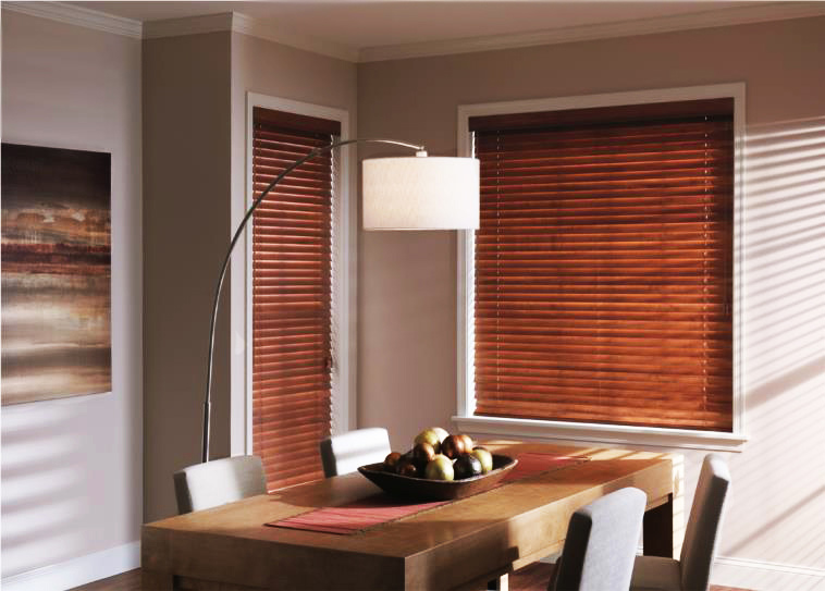 wooden blinds custom dining room wood blinds LDBEMUR